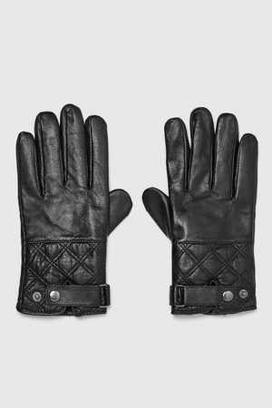 Zara LEATHER GLOVES WITH STRAP