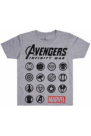 Marvel Boy's The Avengers-Emblems T-Shirt, (Sport SPO)