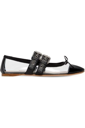 Miu Miu 10mm Plexi & Patent Leather Ballerinas