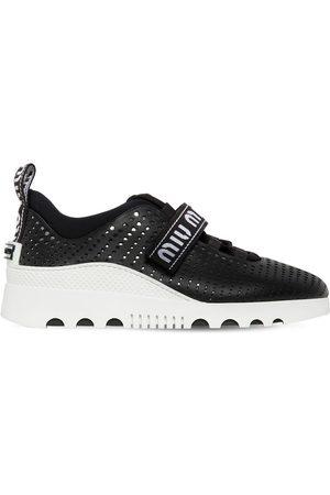Miu Miu 30mm Perforated Leather Sneakers