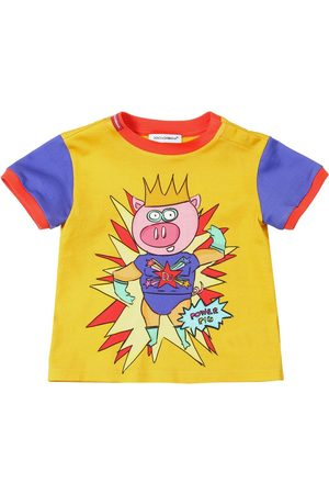 Dolce & Gabbana King Pig Print Cotton Jersey T-shirt