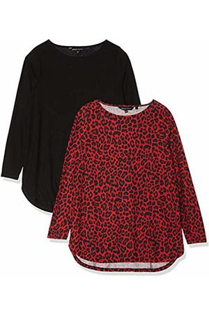 Simply Be Women's Pack 2 Dipped Hem Tunics T-Shirt, (Animal Print/ )