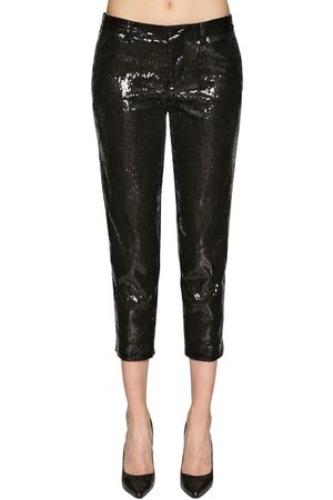 Dsquared2 Cropped Pants W/ Sequins