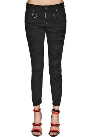 Dsquared2 Cool Girl Bull Cotton Denim Jeans