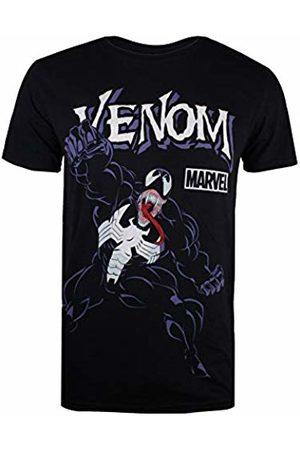 Marvel Men's Venom Attack T-Shirt, ( Blk)