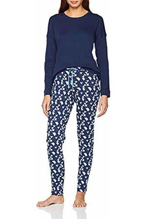 Schiesser Women's Family Anzug Lang Pyjama Sets, (Dark 803)