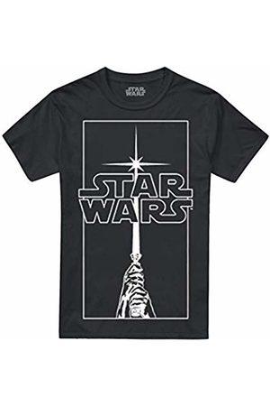 STAR WARS Men's Saber Logo T-Shirt, ( Blk)