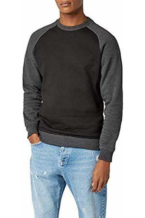 Urban classics Men's 2-Tone Raglan Crewneck Sweatshirt