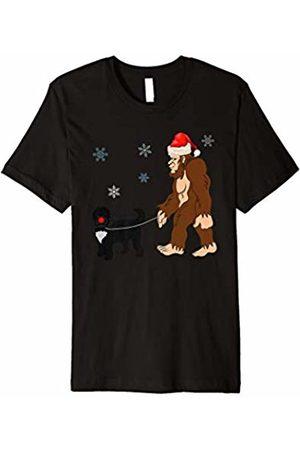 Robust Creative Dog Bigfoot Santa Hat Walking Cockapoo Dog Red Nose