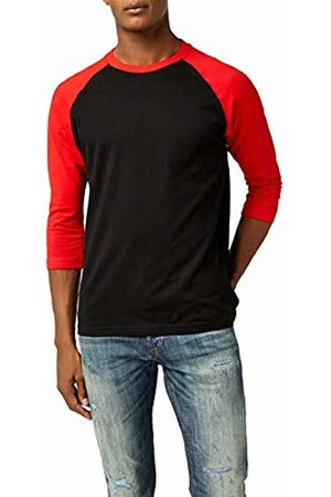 Urban classics Men's Contrast 3/4 Sleeve Raglan Tee T-Shirt