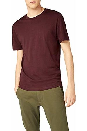 Selected Homme Men's Slhtheperfect Ss O-Neck Tee B Noos T-Shirt, Bitter Chocolate