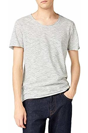 Selected Homme Men's Slhnewmerce Stripe Ss O-Neck Tee W STS T-Shirt