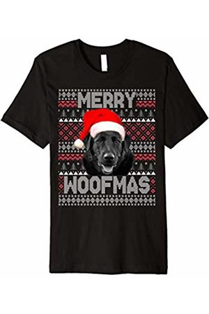 Labrador Funny Christmas Dog Design Merry Woofmas Cute Labrador with Santa Hat