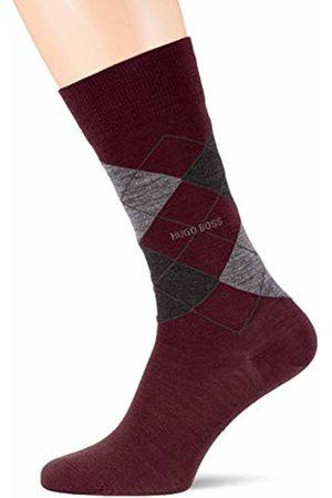 HUGO BOSS Men's John Rs Argyle Wo Calf Socks, (Dark 602)