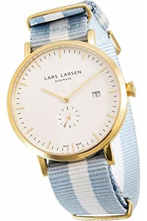 Lars Larsen Sebastian Men's Quartz Watch with Dial Analogue Display and Fabric Strap 131GWCN