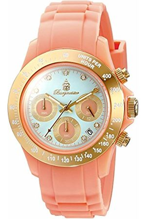 Burgmeister BM514-034s Florida, Ladies watch, Analogue display, Quartz with Seiko Movement - Water resistant, Sporty and trendy silicone strap