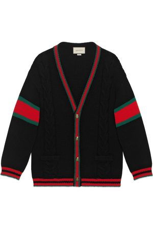 Gucci Men Cardigans - Oversize cable knit cardigan