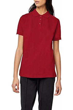 Intimuse Women's Polo Shirt Plain, Off- (magenta)
