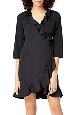 Vero Moda Women's Vmhenna 3/4 Wrap Dress Noos ( Detail: Solid)