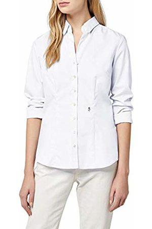Seidensticker Ladies Shirt blouse slim fit Longsleeve non-iron with black rose monochrome
