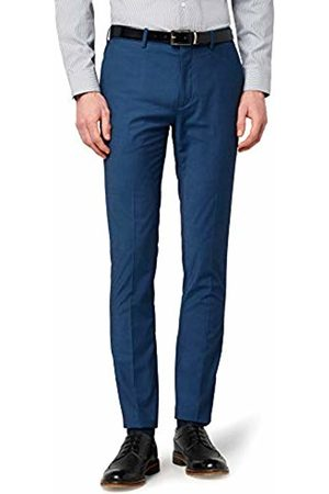 Hem & Seam Men's Skinny Fit Tonic Formal Trousers