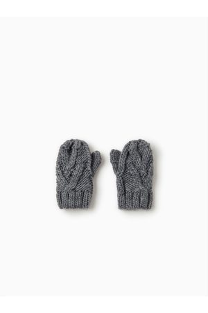 Zara CABLE-KNIT MITTENS