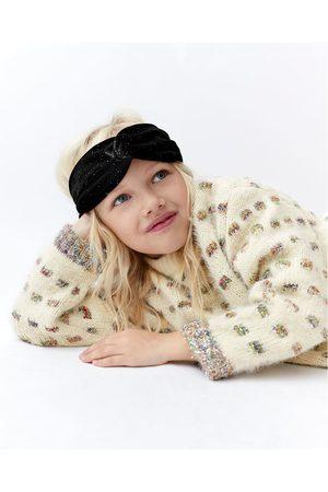 Zara SHINY VELVET TURBAN-STYLE HEADBAND
