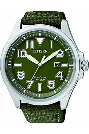 Citizen Watch Mens Analogue Classic Solar Powered Watch with Textile Strap AW1410-32X