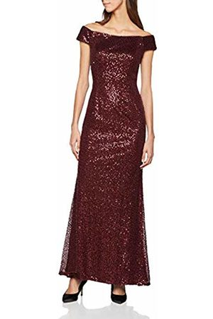 Adrianna Papell Women's AP1E204606 Party Dress, (Deep Wine)