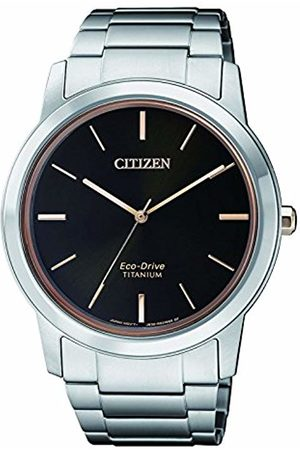 Citizen Mens Analogue Classic Solar Powered Watch with Titanium Strap AW2024-81E