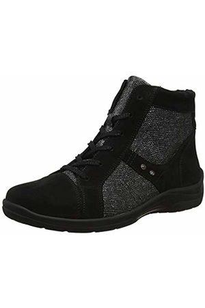 Waldläufer Women's Hesna Ankle Boots, (Denver Namib Schwarz 001)