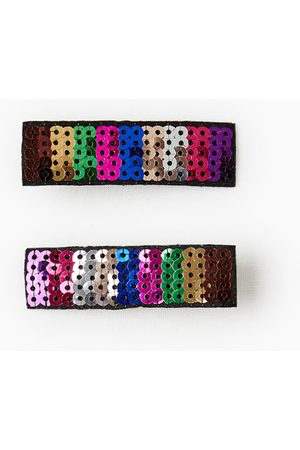 Zara PACK OF TWO SEQUINNED HAIR CLIPS