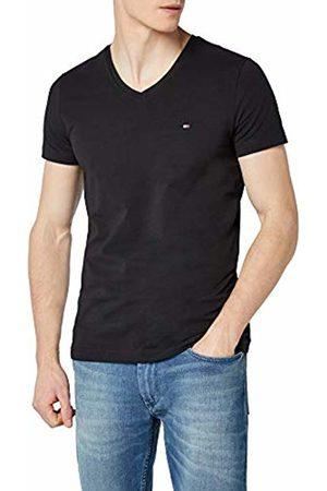 Tommy Hilfiger Men's Core Stretch Slim Vneck Tee T-Shirt, (Flag 083)