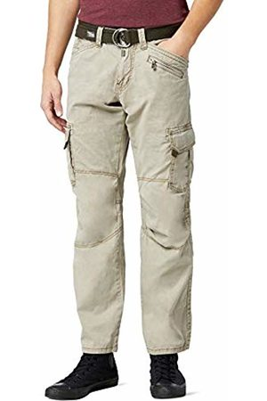 Timezone Textil Men's Benitotz Cargo Pants Incl. Belt Straight Trousers