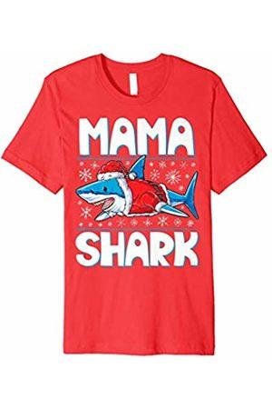 Lique Christmas Family Mama Shark Santa T shirt Christmas Family Matching Pajamas