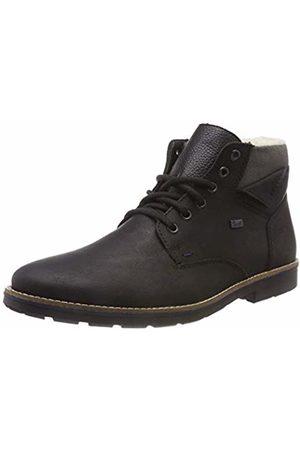 Rieker Men's 35334 Classic Boots, Schwarz/Vulcano 01