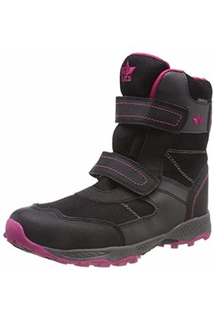 LICO Girls' Cambridge V Snow Boots, Schwarz/Grau/