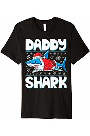 Lique Christmas Family Daddy Shark Santa T shirt Christmas Family Matching Pajamas
