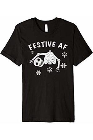 Festive Af Apparel Festive Af T-Shirt Christmas Skeleton Pajamas Tee Shirt