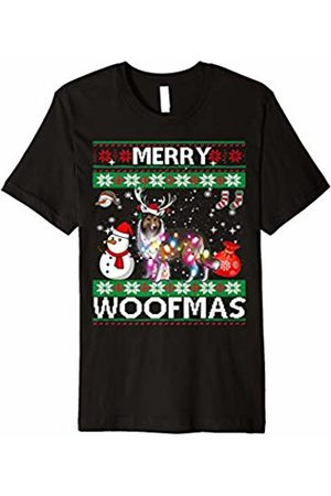 Merry Woofmas Christmas Funny Dog Collie Merry Woofmas Christmas Shirt