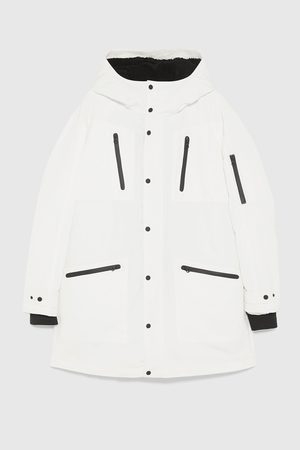 Zara COMBINED PARKA WITH CONTRAST TRIMS