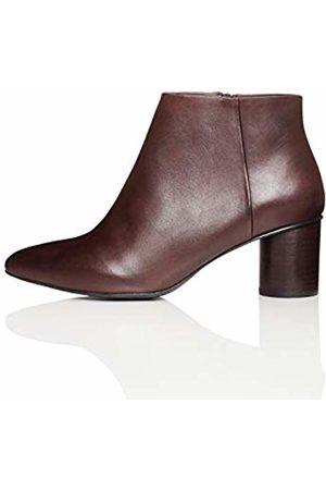 find. Round Heel Ankle Boots, Plum
