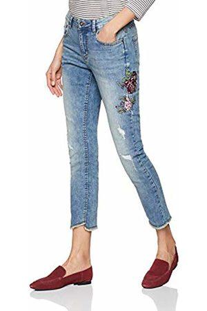Blue Seven Women's Damen Skinny Jeans von mit Rosen-Stickerei