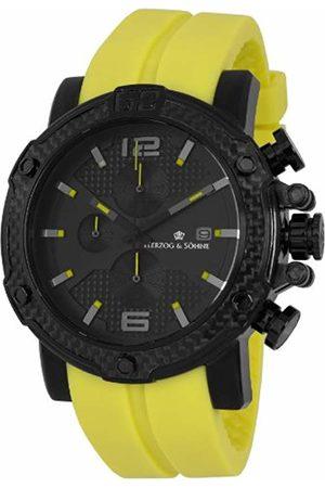 Herzog & Shne Herzog & Söhne Men' Quartz Watch with Dial Chronograph Display and Silicone Strap HS201-620