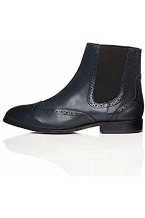 find. Brogue Ankle Boots, Navy