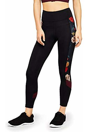 AURIQUE Women Leggings - Printed Side Panel Sports Tights, ( /Port Royale)