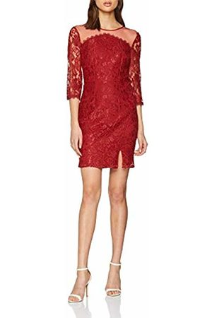 Little Mistress Women's Lace Dress Party, (Crimson)