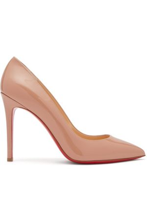 Christian Louboutin Women Heels - Pigalle 100 Patent-leather Pumps - Womens - Nude