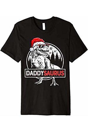 Lique Christmas Family Men T-shirts - Daddysaurus T shirt Dinosaur Christmas Pajamas T rex Family