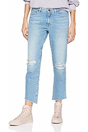 HUGO BOSS Casual Women's J30 Corona Straight Jeans, (Turquoise/Aqua 442)